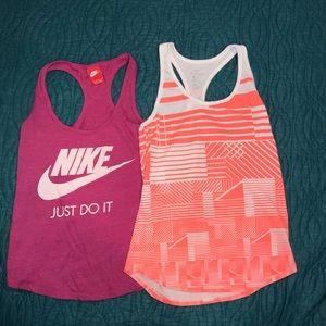 Nike workout tanks.